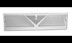 "BASEBOARD WALL DIFFUSER WHITE - FOR 18"" OPENING - GRILL"