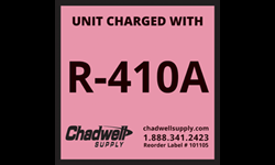 R410A ADHESIVE LABEL - PINK - 10/PK
