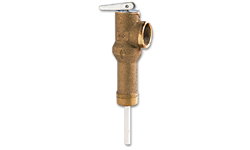 "3/4"" PRESSURE RELIEF VALVE FOR WATER HEATER WITH 2"" LONG SHANK"