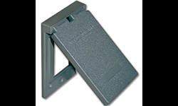WEATHERPROOF GFI/ROCKER RECEPTACLE COVER - GREY METAL