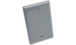 WEATHERPROOF SINGLE GANG BLANK PLATE - GREY POLYCARBONATE