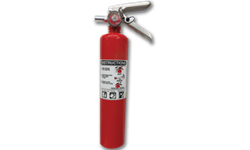 2-1/2LB FIRE EXTINGUISHER NON-CERTIFIED - 1-A:10-B:C - ALUM CYL/METAL HEAD