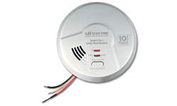 USI 3-IN-1 SMOKE, FIRE, CARBON MONOXIDE SMART ALARM W/10 YEAR TAMPER PROOF SEALED BATTERY BACKUP