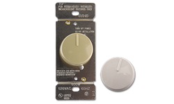 PUSH ON/OFF ROTARY DIMMER SWITCH - IVORY & WHITE