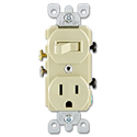 SWITCH RECEPTACLE COMBO - IVORY