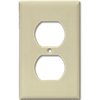 STANDARD DUPLEX RECEPTACLE WALL PLATE - IVORY