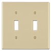 JUMBO 2-GANG SWITCH PLATE - IVORY