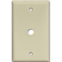 STANDARD CABLE/PHONE NYLON WALL MOUNT PLATE - IVORY