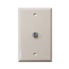 STANDARD CABLE OUTLET PLATE - IVORY