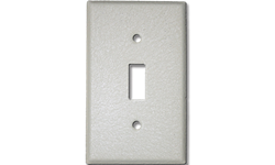 METAL SWITCH PLATE WRINKLE FINISH - IVORY
