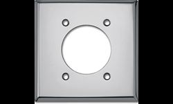 METAL DRYER RECEPTACLE WALL PLATE - SILVER