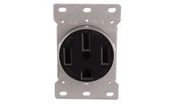 50AMP RANGE RECEPTACLE FLUSH MOUNT 4 WIRE