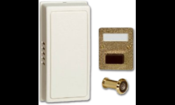 WHITE/GOLD MECHANICAL DOOR CHIME WITH VIEWER