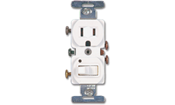 SWITCH RECEPTACLE COMBO - WHITE