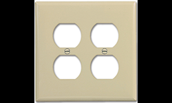 MIDI 2-GANG DUPLEX RECEPTACLE WALL PLATE - IVORY