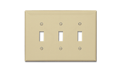 MIDI 3-GANG SWITCH WALL PLATE - IVORY