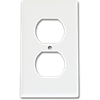 STANDARD DUPLEX RECEPTACLE WALL PLATE - WHITE