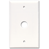 STANDARD CABLE/PHONE PLASTIC WALL MOUNT PLATE - WHITE