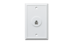 STANDARD FLUSH MOUNT TELEPHONE JACK - WHITE