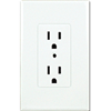 TAYMAC DECORA COVER DUPLEX RECEPTACLE PLATE - WHITE