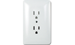 TAYMAC MASQUE DUPLEX RECEPTACLE PLATE - WHITE