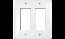 TAYMAC MASQUE 2-GANG ROCKER WALL PLATE - WHITE