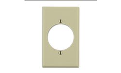 MIDI 30AMP A/C RECEPTACLE PLATE - IVORY