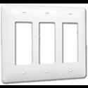 TAYMAC MASQUE 3-GANG ROCKER WALL PLATE - WHITE