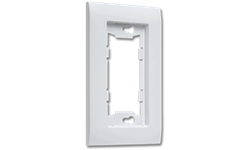 ALLURE SINGLE WALL PLATE - WHITE