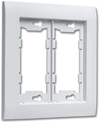 ALLURE DOUBLE WALL PLATE - WHITE
