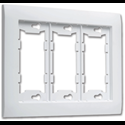 ALLURE TRIPLE WALL PLATE - WHITE