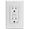 15AMP SELF TEST TAMPER PROOF GFCI RECEPTACLE - WHITE