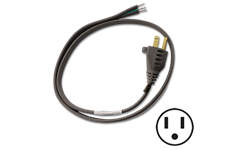 6 FT PIGTAIL POWER CORD - STRAIGHT PLUG
