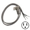 6 FT PIGTAIL POWER CORD - ANGLED PLUG