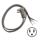 3 FT PIGTAIL POWER CORD - ANGLED PLUG