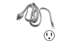 3 FT PIGTAIL POWER CORD - STRAIGHT PLUG