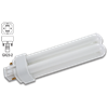 13W DOUBLE TUBE 2 PIN COMPACT FLUORESCENT BULB - GX23-2 BASE WITH STRAIGHT PINS - WARM WHITE
