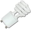 13W MINI SPIRAL CFL BULB - GU24 BASE - COOL WHITE