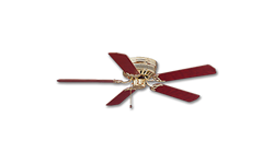 "52"" HUGGER CEILING FAN, 5 BLADES - POLISHED BRASS"