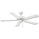 "52"" DUAL MOUNT ALL WEATHER CEILING FAN, 5 BLADES - WHITE"