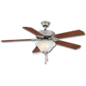 "52"" CEILING FAN WITH LED LIGHT KIT, 5 BLADES - SATIN PEWTER"