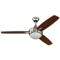 "52"" 3 BLADE DUAL MOUNT LED CEILING FAN - BRUSHED POLISHED NICKEL"