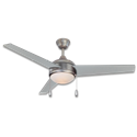 "52"" 3-BLADE CEILING FAN WITH SATURN LIGHT SATIN NICKEL"