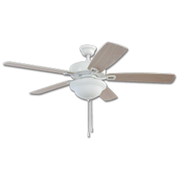 Chadwell Supply 52 Twist Lock Easy Install Ceiling Fan White With Led Light Kit