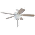 "52"" TWIST & CLICK EASY INSTALL CEILING FAN - WHITE WITH LED LIGHT KIT"