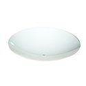 "13"" WHITE ROUND BENT GLASS 2-1/4"" DEEP - 4/PK"