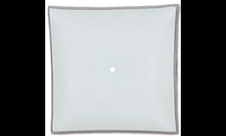 "12"" SQUARE WHITE BENT GLASS - 4/PK"
