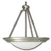"20"" PENDANT FIXTURE WITH FAUX ALABASTER GLASS - SATIN NICKEL"