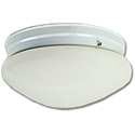 "10"" MUSHROOM FIXTURE - WHITE WITH WHITE BASE-PAN"