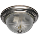 "11"" CLEAR RIBBED GLASS FIXTURE - SATIN NICKEL"